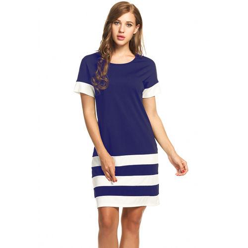 Blue Sporty Stripes Dress
