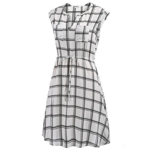Casual Striped A-Line Dress