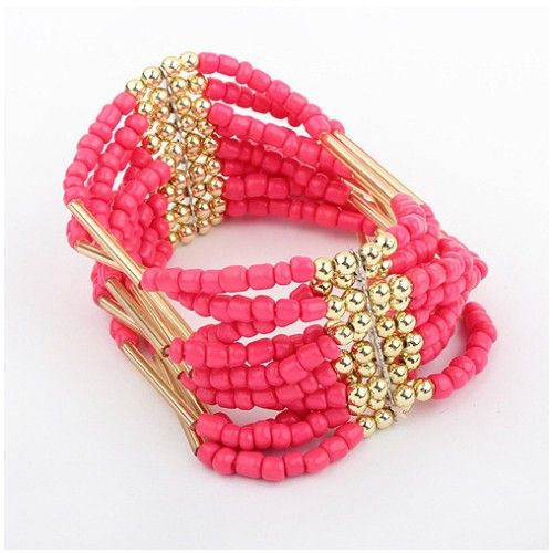 Pink Beads Bracelet