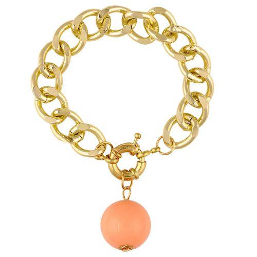 Peach Pearl Chain Bracelet