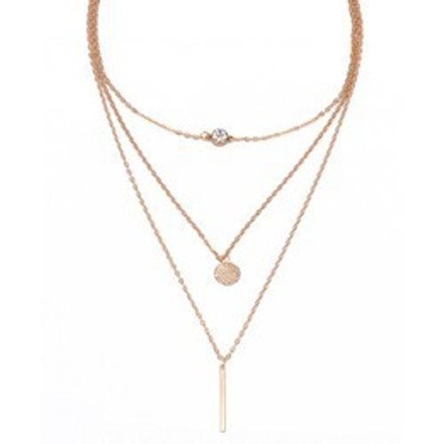 Three Layer Rhinestone Neckpiece
