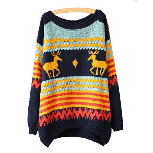 Navy Christmas Sweater