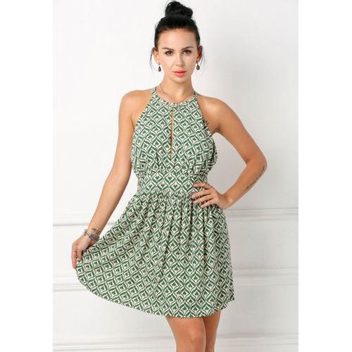 Printed Green Dress