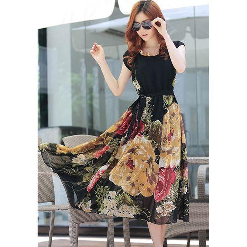 Black Bohemian Maxi dress