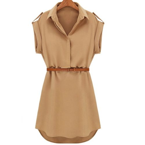 Khaki Shirt Mini Dress