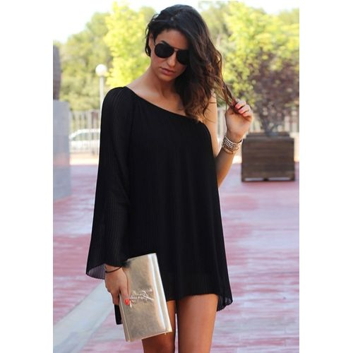 Black Evening Tunic