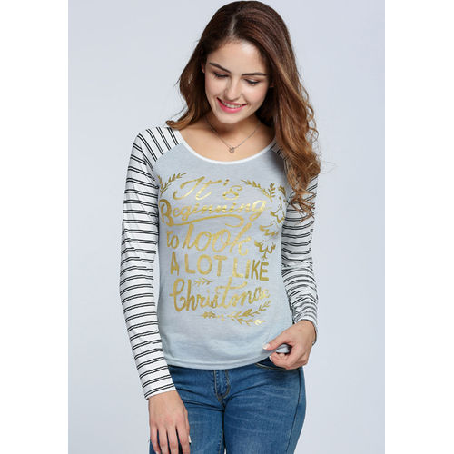 Striped Raglan Sleeve T-shirt