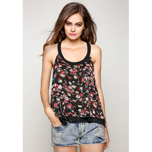 Floral Open Back Tank Top