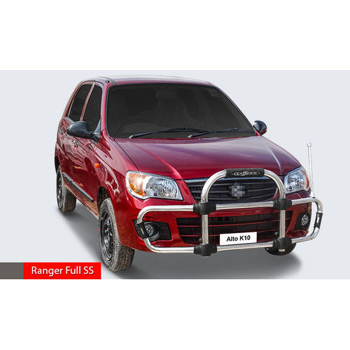 ALTO K10 Ranger Full SS  High Grade S.S Front Guard with Sturdy and Innovative Design with Judgement Rod. CLASSIQUE
