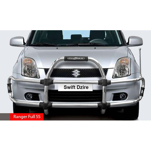 SWIFT DEZIRE  Ranger Full SS  High Grade S.S Front Guard with Sturdy and Innovative Design with Judgement Rod. CLASSIQUE