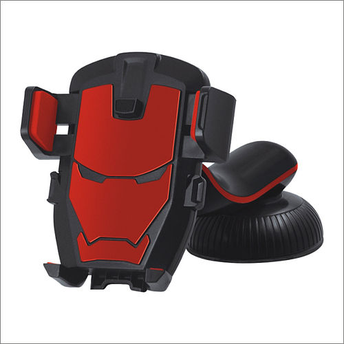 Iron man style mobile holder for dashboard and windshield  red