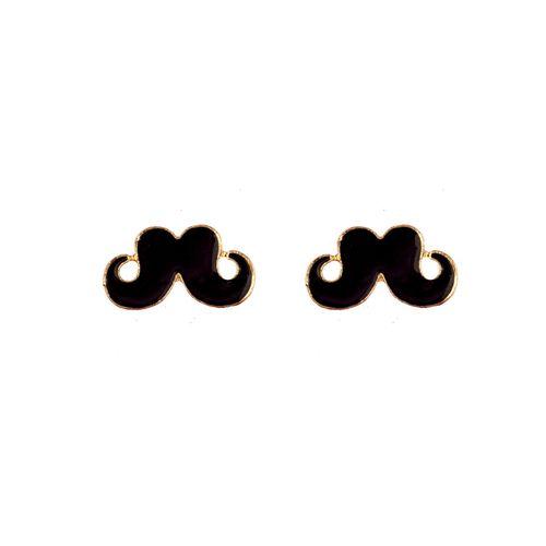 Moustache Me Noir  (Pair)