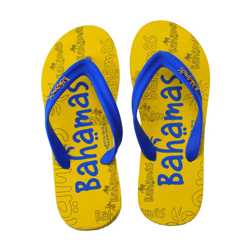 BAHAMAS YELLOW/BLUE GENTS CASUALS  SLIPPERS_BHG-58