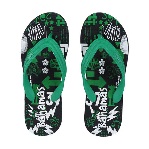 BAHAMAS BLACK/GREEN GENTS CASUALS  SLIPPERS_BHG-65