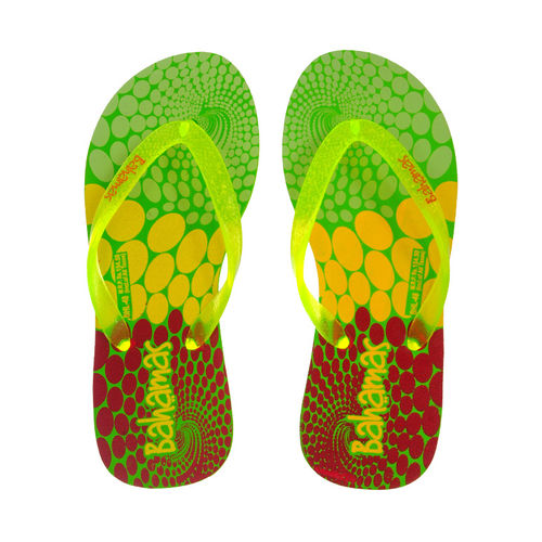 BAHAMAS FL.GREEN/YELLOW LADIES CASUALS  SLIPPERS_BHL-48