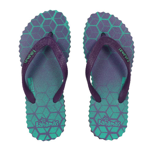 BAHAMAS GREEN/PURPLE LADIES CASUALS  SLIPPERS_BHL-76