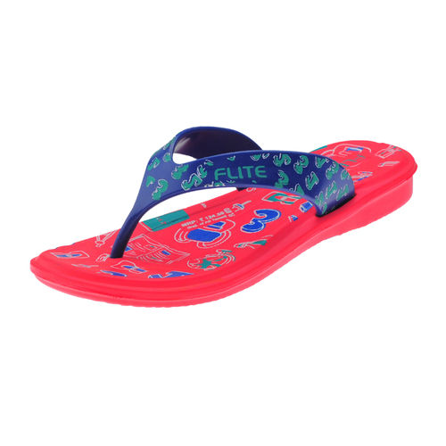 FLITE RED/R.BLUE KIDS HOMEUSE  SLIPPERS_FL KIDS-67D