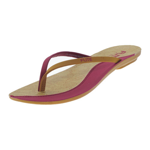 PU- FLITE D.PINK/BEIGE LADIES CASUALS  SLIPPERS_PUL-70