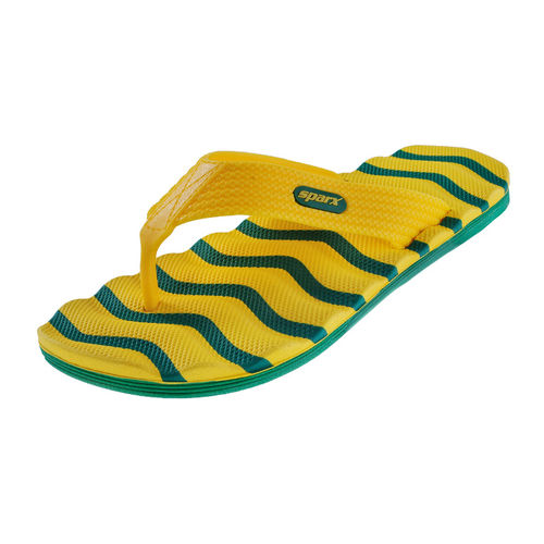 SPARX GREEN/YELLOW GENTS CASUALS SLIPPERS_SFG-2009