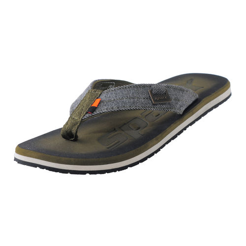 SPARX OLIVE/WHITE GENTS CASUALS SLIPPERS_SFG-37