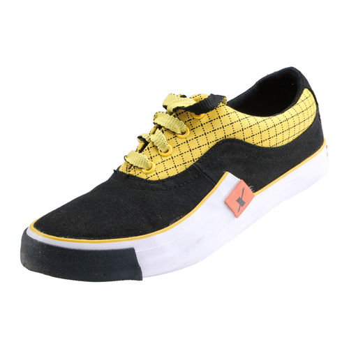 SPARX BLACK/YELLOW GENTS SPORTS SHOES_SM-198