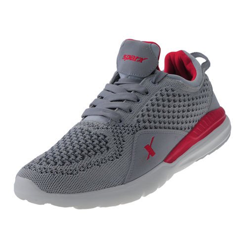 SPARX GREY/RED GENTS SPORTS SHOES_SM-266