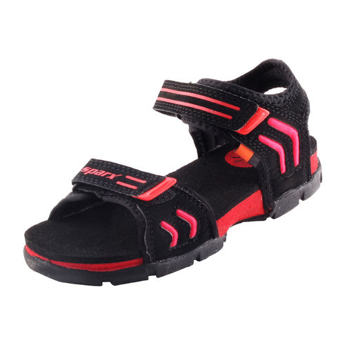 SPARX BLACK/RED KIDS CASUALS SANDALS_SS-106