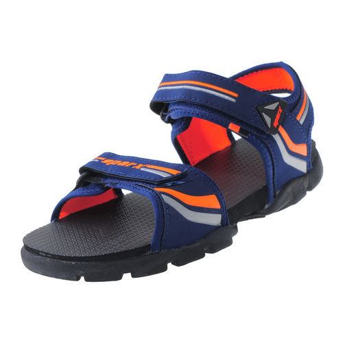 SPARX N.BLUE/FL.ORANGE GENTS SPORTS  SANDALS_SS-118