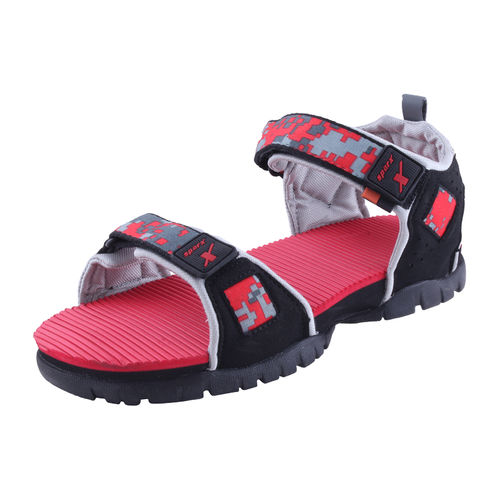 SPARX BLACK/RED GENTS CASUALS SANDALS_SS-210