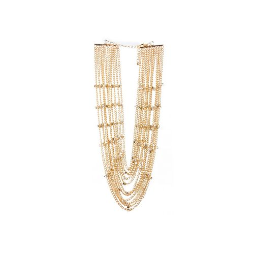 Gold tiers necklace