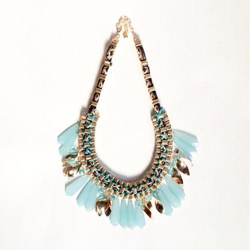 Blue bono necklace