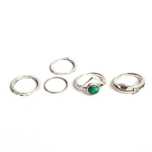Antique silver midi rings (set of 5)