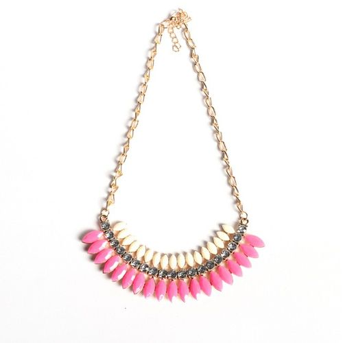 Pink n white necklace