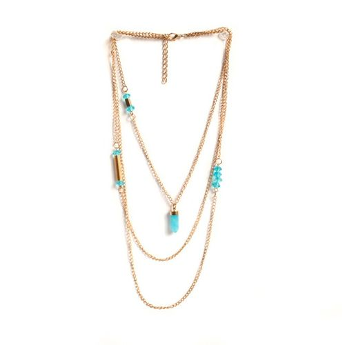 Blue accents dainty necklace