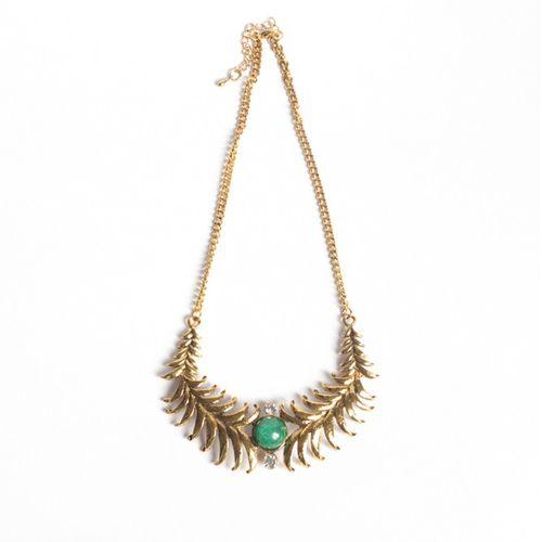 Antique green gem necklace