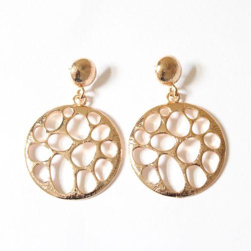 Gold punch earrings