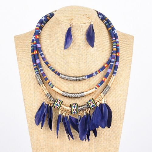 Feather crush necklace