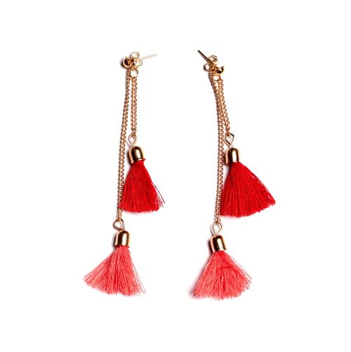 Double thread earrings