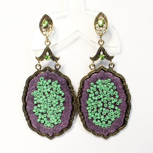 Purple Orchid earrings