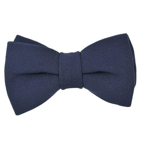 3a8028fce9e4 Home · PLAIN · Tiekart men blue plain solids knotted double bow tie · Zoom