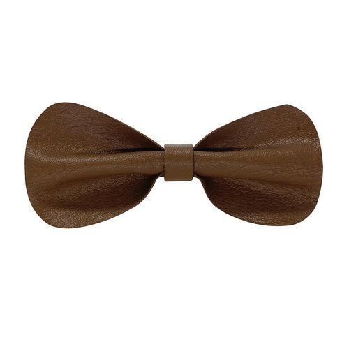 a16c21e7ac8f Home · Tiekart men brown plain solids leather bow tie · Zoom