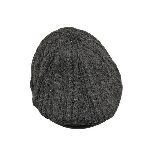 4ceb22f3928 Home · Grey Self Design Woolen Warm Golf Cap for Men · Zoom