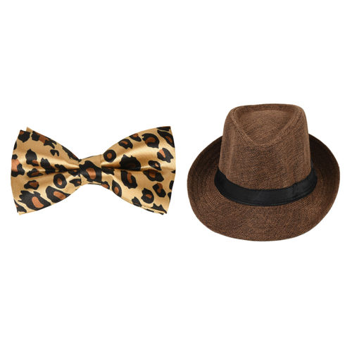 b201f1c4051 A Smart Combo Party Look With Light Brown Designer Bow Tie And Brown ...