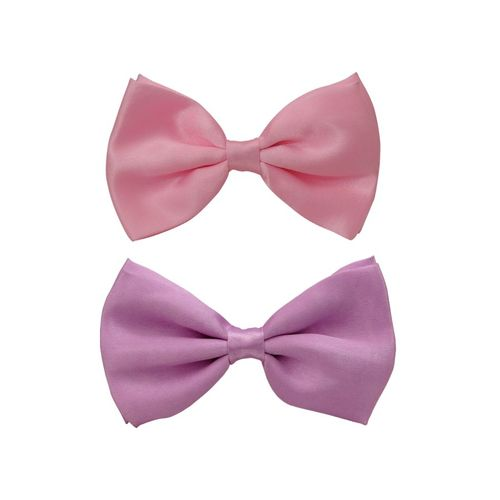 2bc0c6252782 Cool Combos With Pair Of Pink And Lilac Plain Bow Ties For Men | Cob085