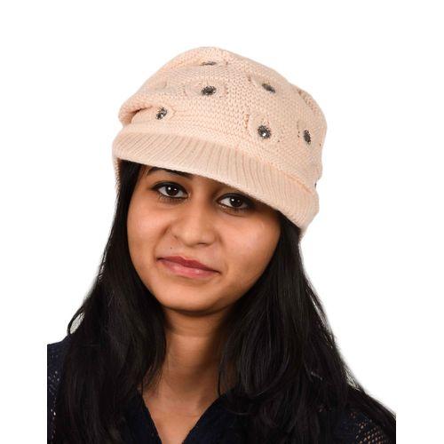 b8c3067b678 ... Tiekart women pink woollen cap · Zoom