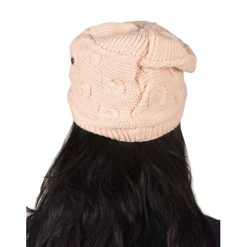 dac58a1712b Tiekart women pink woollen cap