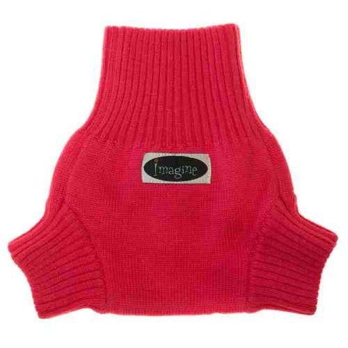 Imagine Wool Diaper Cover - Raspberry