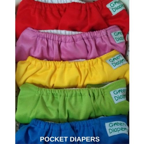 Green Diapers Combo - Solids