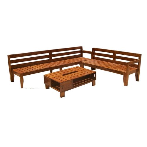 Armson- Sofa bench with crate table