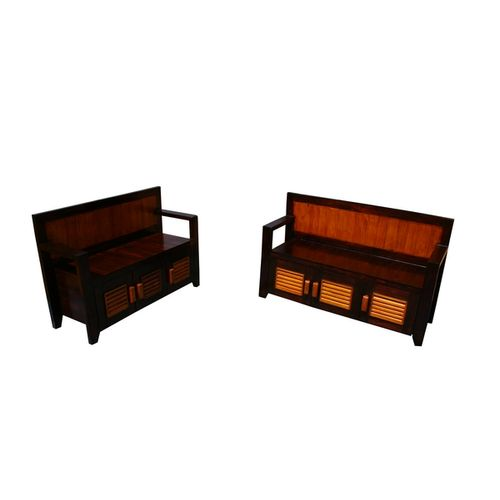 Roxanne- Set of 2 entryway storage benches